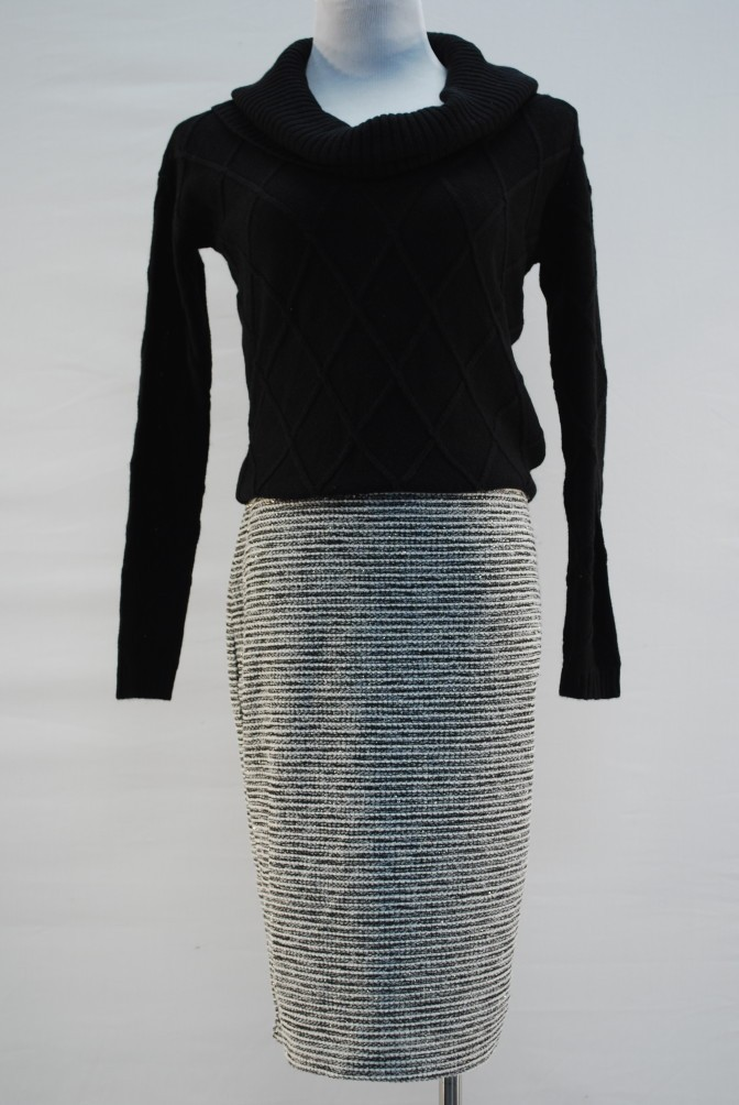 Guess, Sweater, XS, $79.50, $20, NY Collection skirt,M, $60, $20
