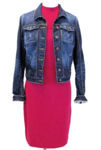 Kensie dress, M, $89, $25, Guess jacket, M, $128, $28
