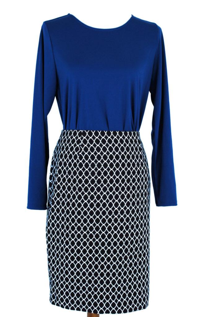 Alfani top, M, $69, $15, Charter Club skirt, $59, $15