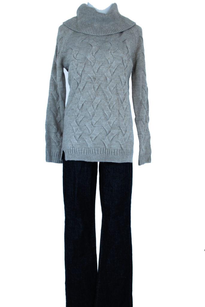 Calvin Klein sweater, XS, $89, $20, tommy Hilfiger jeans, 4, $69, $15