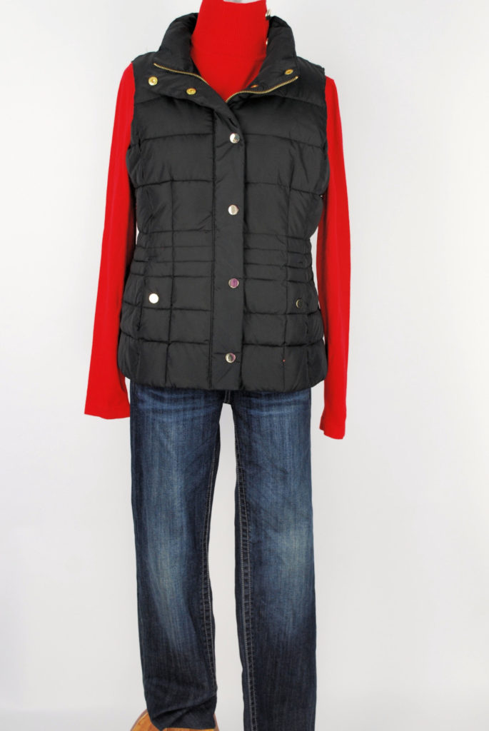 INC sweater, M, $59.50, $15, Charter Club vest, M, $89.50, Kut jeans, 6, $89, $20