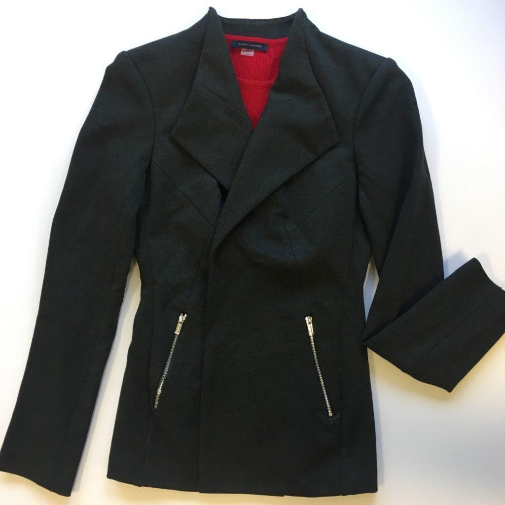 Calvin Klein jacket, 0, $139, $39, tommy Hilfiger top, xs, $49, $12