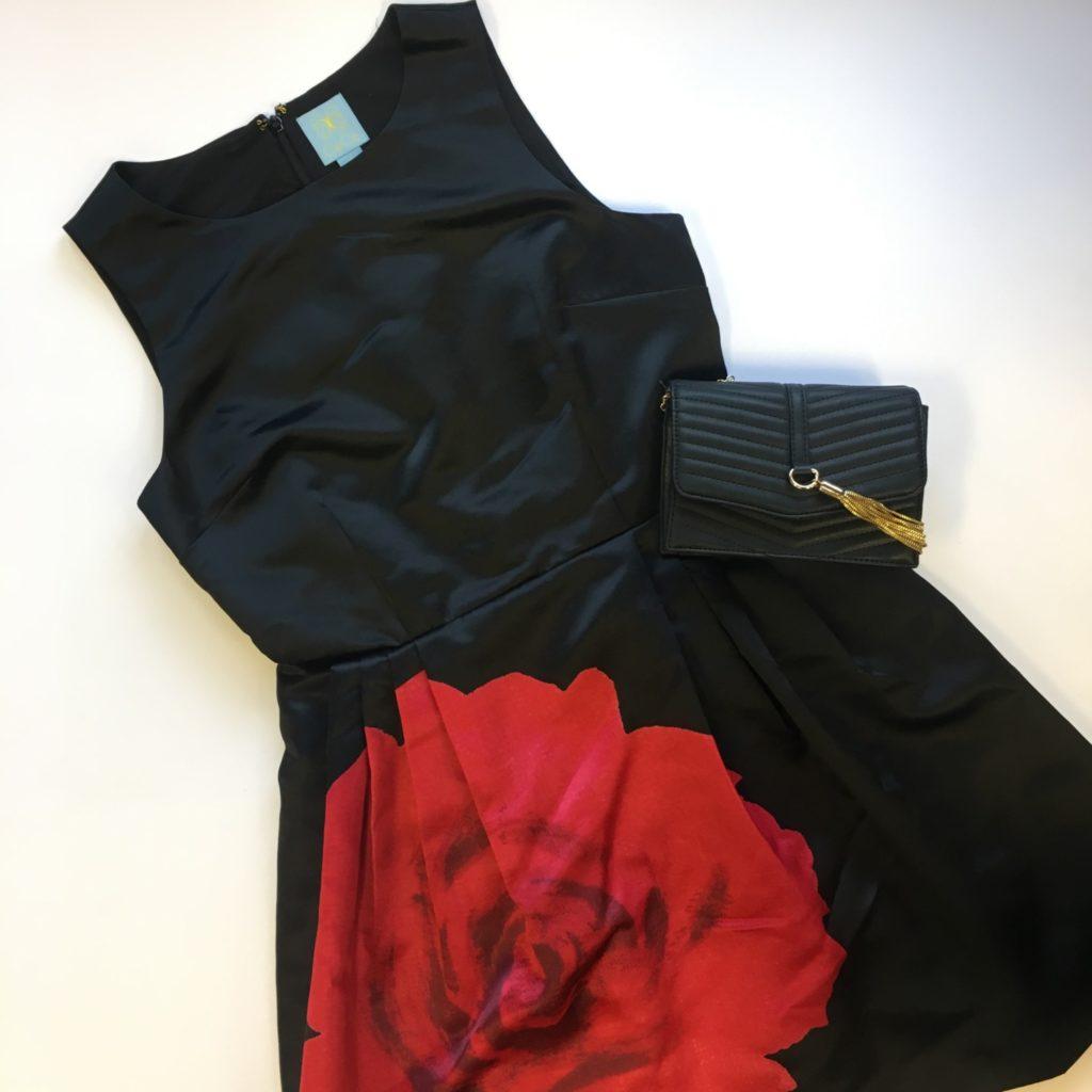CeCe dress, 6, $138, $39, INC purse, $59.50, $21