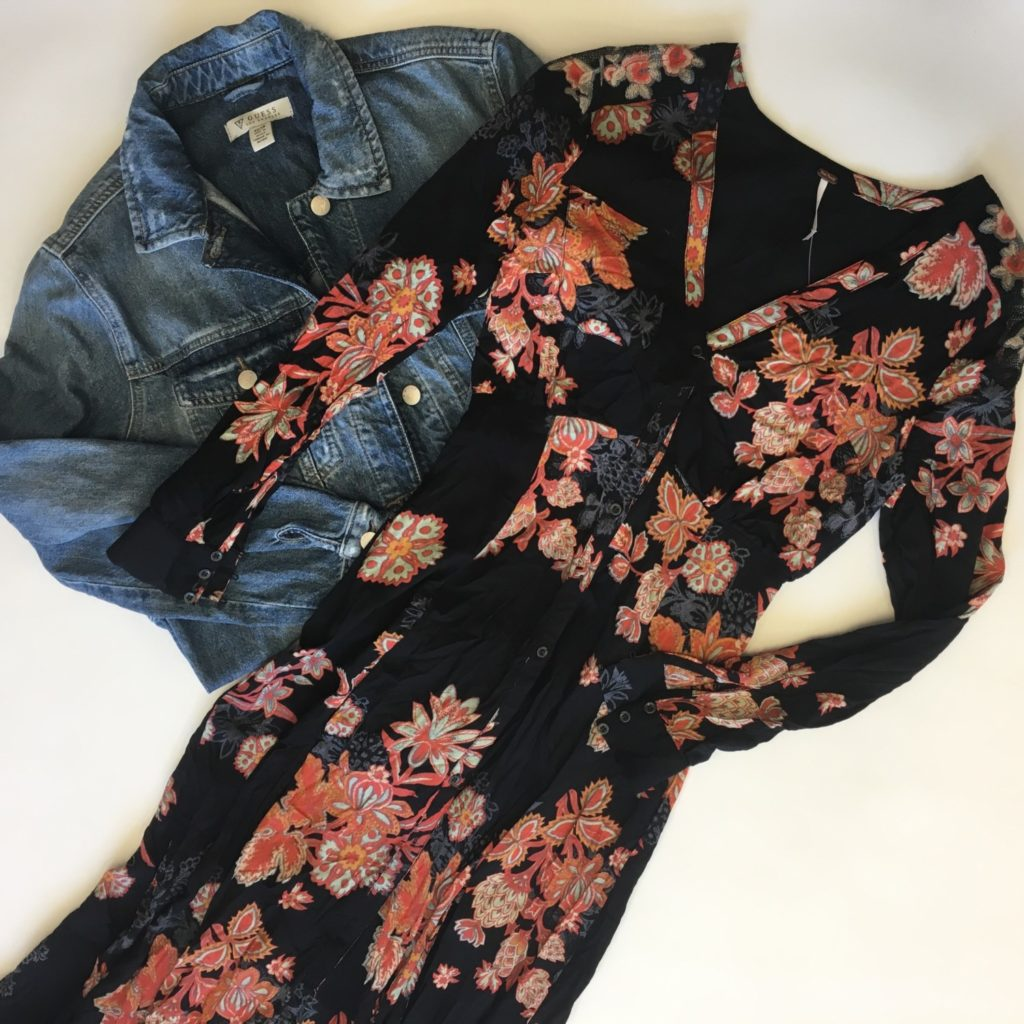 Free People dress, 0, $148, $39, Guess jacket, XS, $148, $39