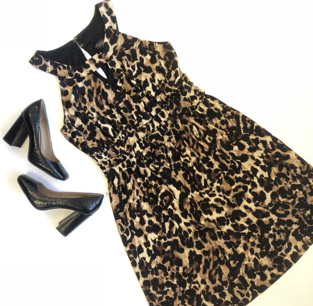 Thalia Sodi dress, M, $69.50, $20, $10, Nine West shoes, 6, $89, $32, $12