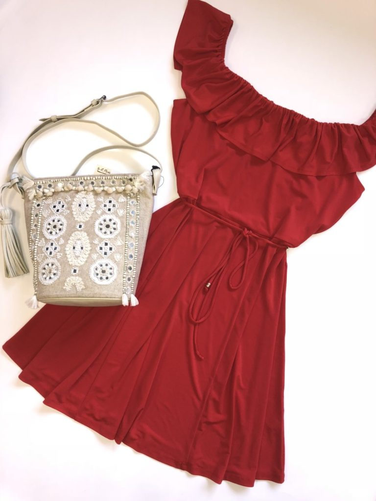 Ivanka Trump dress, L, $99, $25, Angel by L Martino purse, $118, $42