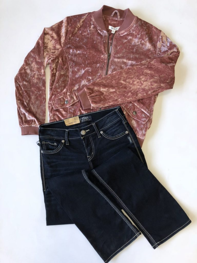 OneHart jacket, M, $85, $20, Silver jeans, 27, $78, $20 (1)
