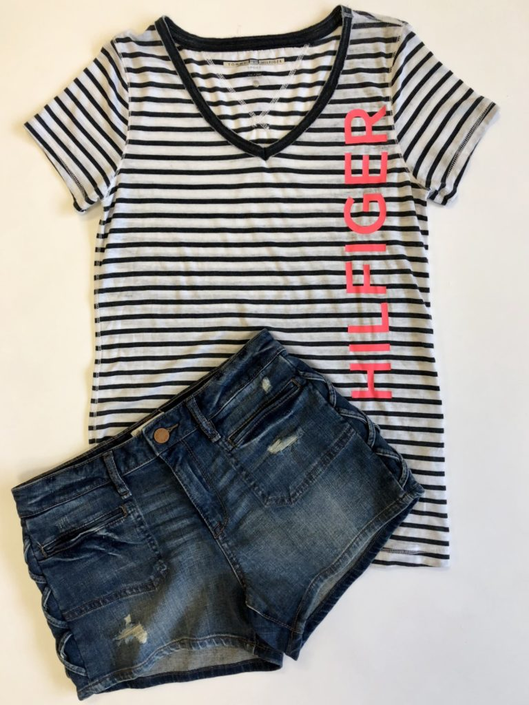 Tommy Hilfiger top, XS, $39, $12, William Rast jeans, 26, $69.50, $15 (2)