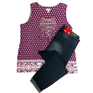 Charter Club Top, Celebrity Pink Pants – Original Retail: $118, CWS: $30